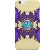 Purple Cream New Age Golden Om (Sanskrit Aum) iPhone & iPod Case iPhone Case/Skin