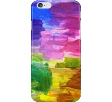 Colorful Hand Painted Rainbow Acrylic Abstract Psychedelic Art iPhone Case/Skin