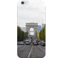 Champs Elysées in the rush hour iPhone Case/Skin