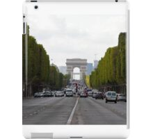 Champs Elysées in the rush hour iPad Case/Skin