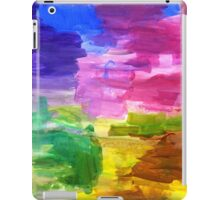 Colorful Hand Painted Rainbow Acrylic Abstract Psychedelic Art iPad Case/Skin