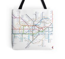 London Underground Tube Map as Anagrams Tote Bag