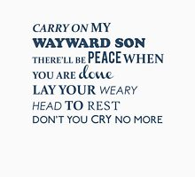 Carry on my wayward son Mens V-Neck T-Shirt