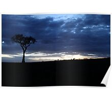 Storm clouds at Sunset Poster