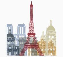 Paris skyline poster One Piece - Short Sleeve