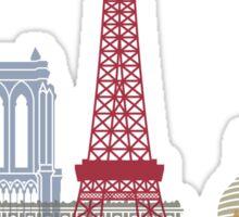 Paris skyline poster Sticker