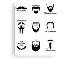 Movember Facial Hair Guide Canvas Print