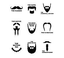 Movember Facial Hair Guide Photographic Print