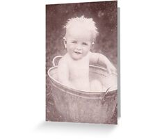 JWFrench Collection Vintage Range I'm Having A Bath Greeting Card