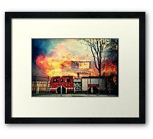 Detroit Fire Department  Framed Print