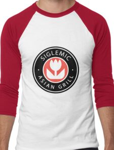 Siglemic's Hot Asian Grill (Larger Insignia) Men's Baseball ¾ T-Shirt