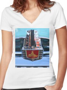 FJ Holden Grille Graphic Shirt Women's Fitted V-Neck T-Shirt