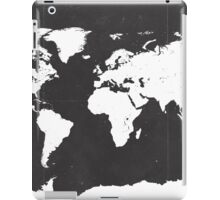 World map black and white F iPad Case/Skin