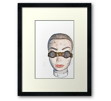 head with goggles  Framed Print