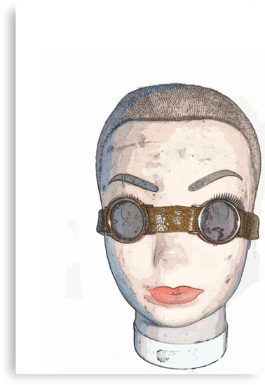 head with goggles  by IanByfordArt