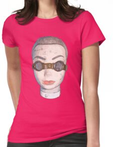 head with goggles  Womens Fitted T-Shirt