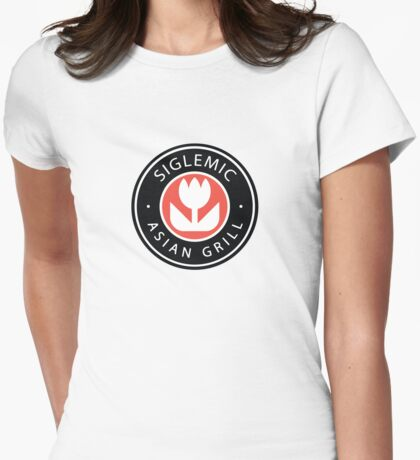 Siglemic's Hot Asian Grill Womens Fitted T-Shirt