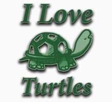 I love turtles Kids Clothes