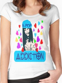 ㋡♥♫K-Pop Addicted Gorgeous Girl Clothing & Stickers♪♥㋡ Women's Fitted Scoop T-Shirt