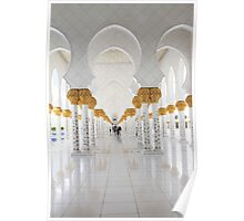 Abu Dhabi Grand Mosque Poster