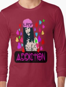 ㋡♥♫K-Pop Addicted Gorgeous Girl Clothing & Stickers♪♥㋡ Long Sleeve T-Shirt