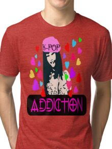 ㋡♥♫K-Pop Addicted Gorgeous Girl Clothing & Stickers♪♥㋡ Tri-blend T-Shirt