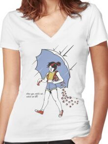 When You Catch Em' Catch Em' All! Women's Fitted V-Neck T-Shirt