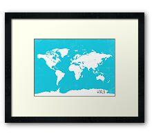 World map travel A Framed Print