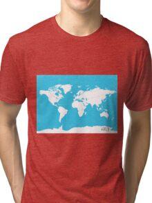 World map Travel B Tri-blend T-Shirt