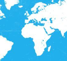 World map Travel C Ocean ed Sticker