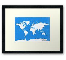 World map travel D Framed Print