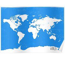 World map travel D Poster
