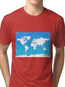 Worl map travel E Ocean park Tri-blend T-Shirt