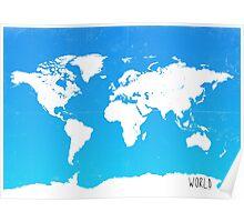 Worl map travel E Ocean park Poster