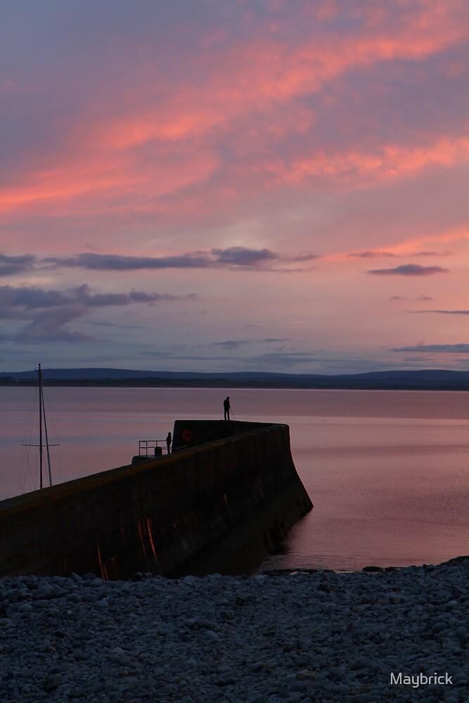 Enniscrone Pier at Sunset by Maybrick