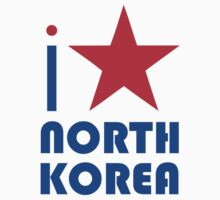 I LOVE NORTH KOREA T-shirt by ethnographics