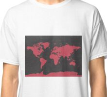 World map travel RED Classic T-Shirt