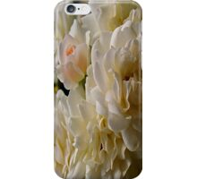 white roses and a light pink bud iPhone Case/Skin