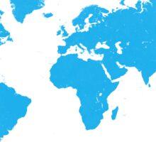World map W blue Sticker