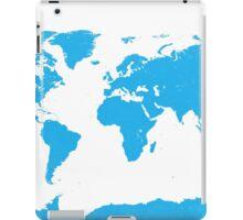 World map W blue iPad Case/Skin
