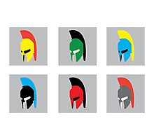 Colourful Spartans Photographic Print