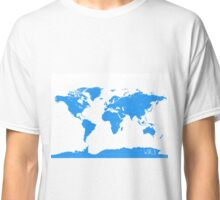 World map W blue 2 Classic T-Shirt