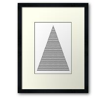 666 triangles Framed Print
