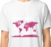 World map W PINK Classic T-Shirt