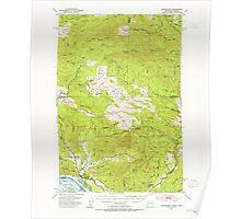 USGS Topo Map Washington State WA Skamokawa 243743 1953 62500 Poster