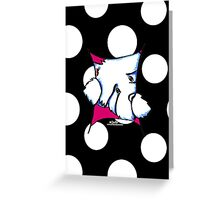 Westie Inside Fun Polka Dots Any Occasion Greeting Card