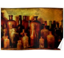 Bottles On Shelf Poster