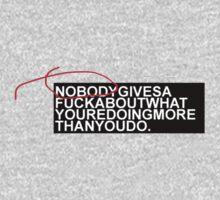 nobody cares. by eL7e