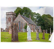 Building, Church, Corsock, Dumfriesshire, Scotland Poster
