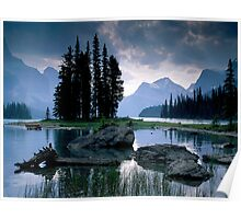 Maligne Lake after a Storm Poster